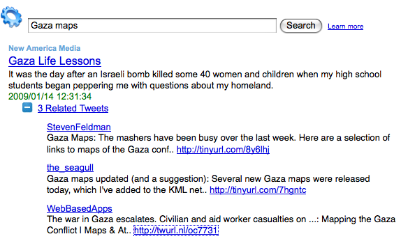 The third Tweet listed links back to a story on my site.  It works!